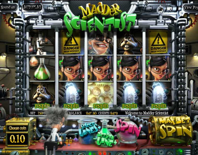 3D игровой автомат Madder Scientist