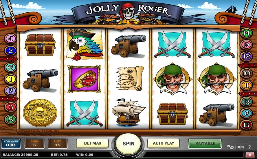 Игровой автомат Jolly Roger